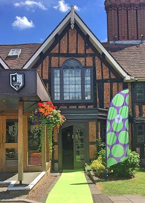 Branded hotel entrance Stratford